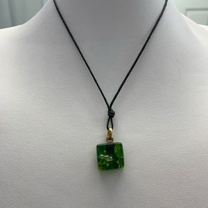 Marbled Green Necklace